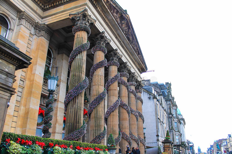 Le dôme pendant le Noël, Edimbourg, Royaume-Uni image stock