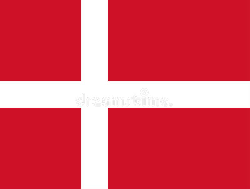 Le Danemark, Dannebrog Indicateur danois Couleurs officielles Proportion correcte Vecteur illustration libre de droits