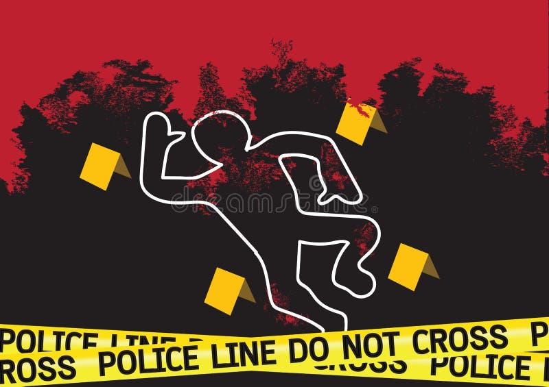 Le danger de scène du crime attache du ruban adhésif à l'illustration illustration libre de droits