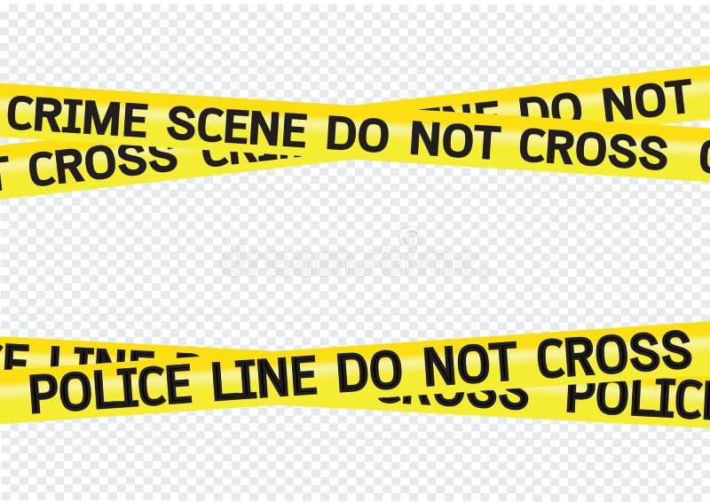 Le danger de scène du crime attache du ruban adhésif à l'illustration illustration stock