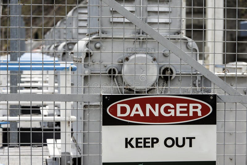 Le danger empêchent d'entrer le signe photo libre de droits