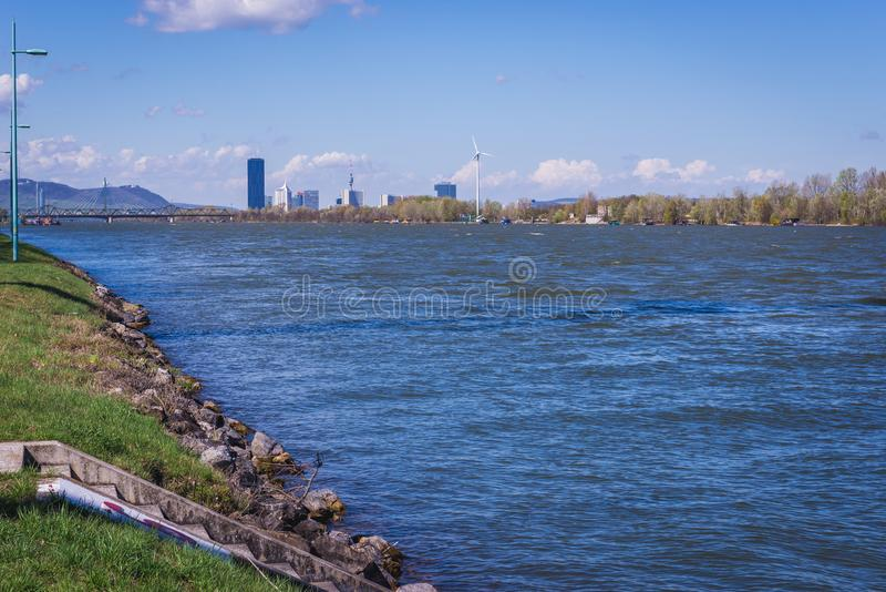 Le Danube à Vienne photo libre de droits