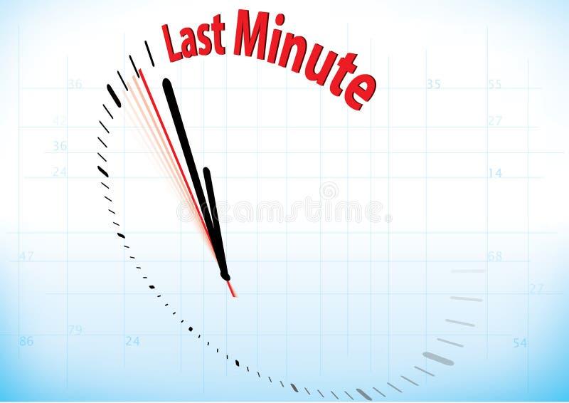 Le de dernière minute illustration stock