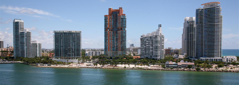 ?le de Fisher, Miami, la Floride, Etats-Unis photo stock