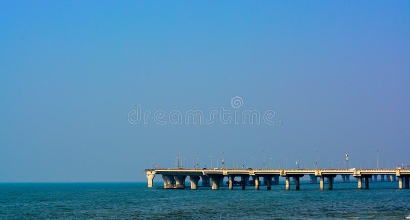 ` Le ` de lien de mer de Bandra-Worli, situé dans le maharashtra de ville de Mumbai photos stock