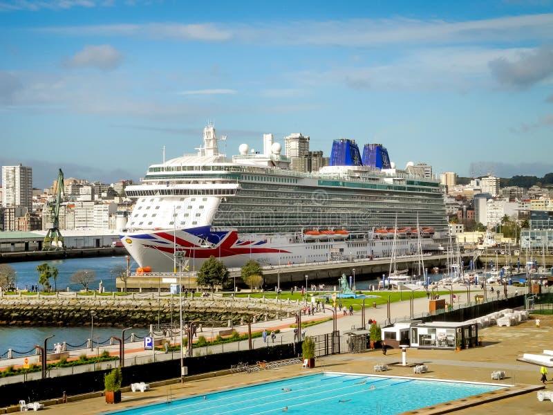 Le ` de luxe du ` BRITANNIA de croisière de P&O Cruises Company photos stock