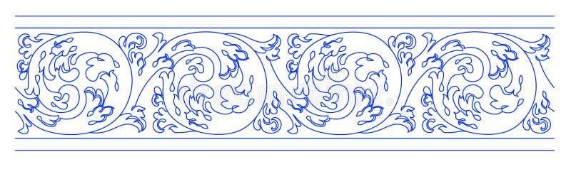 Le decorazioni portoghesi tipiche hanno chiamato i azulejos - schizzo digitale struttura senza cuciture È una struttura senza cuc illustrazione vettoriale