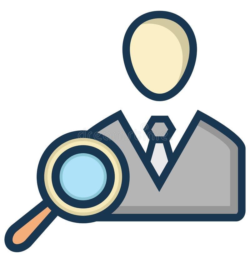 Le demandeur de recherche a isolé l'icône de vecteur qui peut être facilement modifiée ou éditée illustration de vecteur