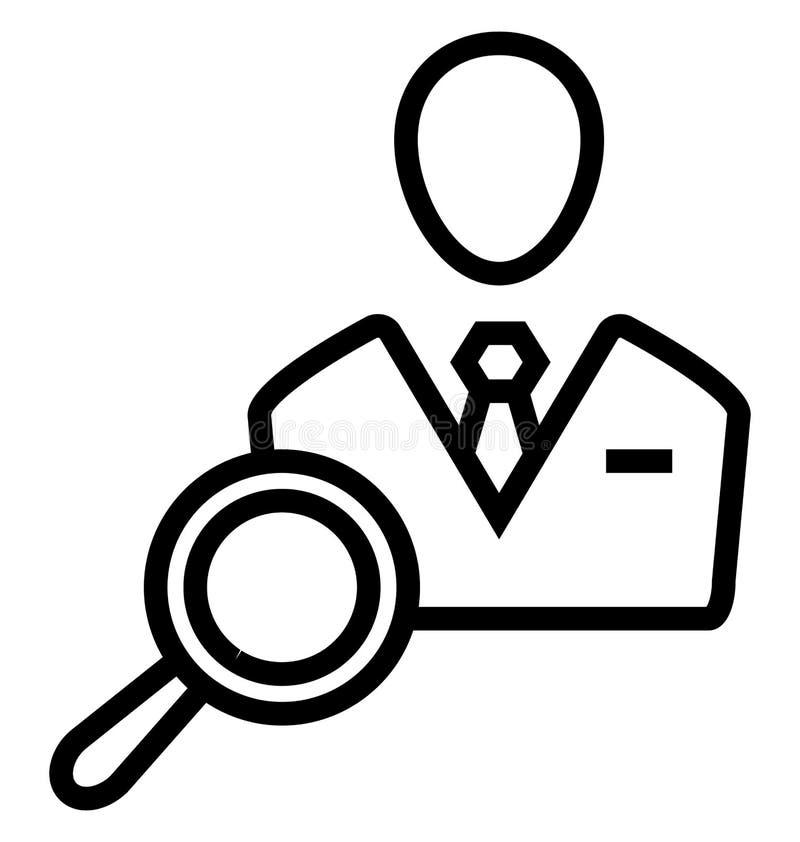 Le demandeur de recherche a isolé l'icône de vecteur qui peut être facilement modifiée ou éditée illustration stock