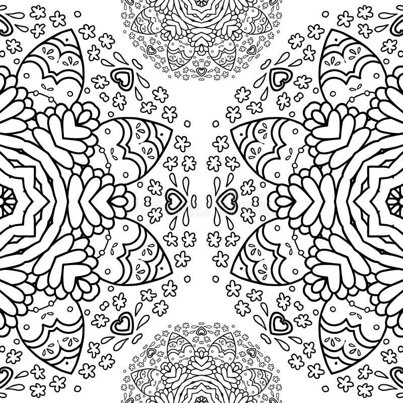 Le demi modèle rond ornemental de dentelle, fond de cercle, dentelle faite main faisante du crochet, arabesque de dentelle conçoi illustration libre de droits