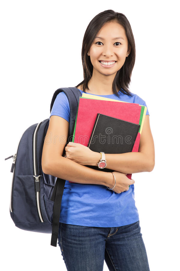 Le den asiatiska studenten royaltyfri foto