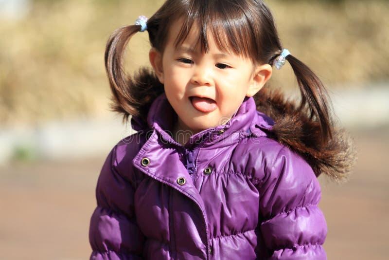 Le den japanska flickan 2 gamla år arkivbild