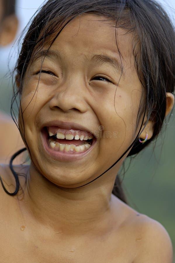 Le den Laos flickan fotografering för bildbyråer