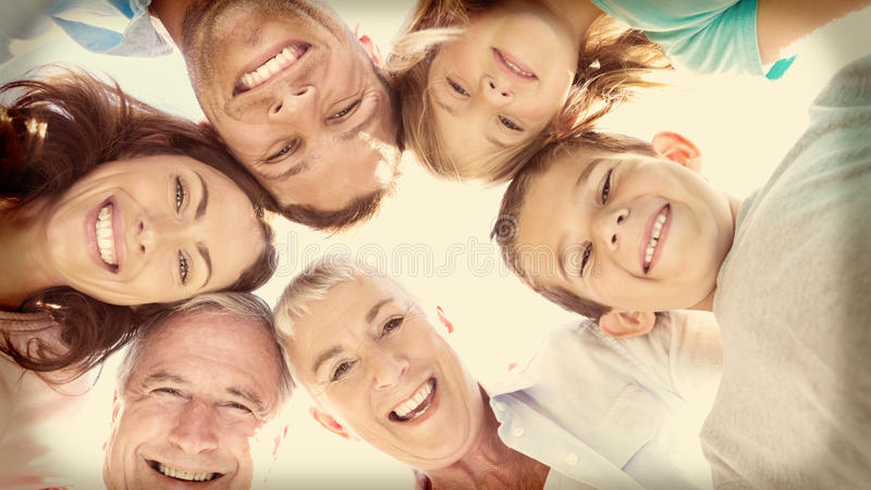 Le den mång- utvecklingsfamiljen royaltyfria bilder