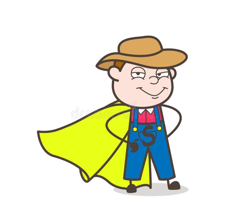 Le den tecknad filmToppen-hjälte bonden Character stock illustrationer