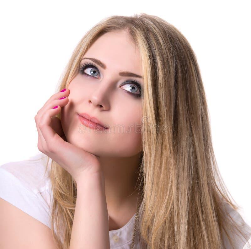 Le den tonårs- flickan royaltyfri bild