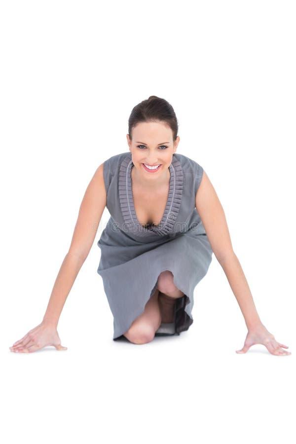 Le den ursnygga kvinnan som får klar för avvikelse arkivfoton
