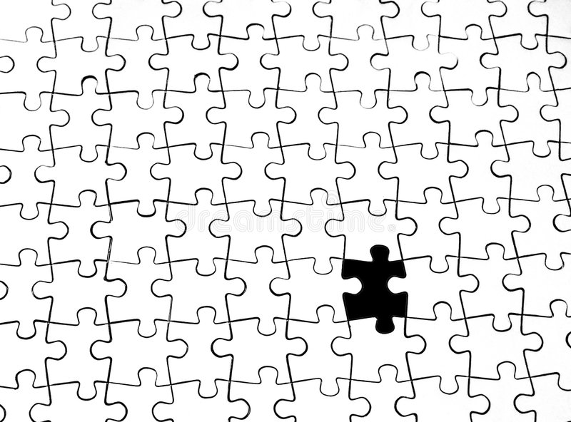 Le dernier pieceof le puzzle photo stock