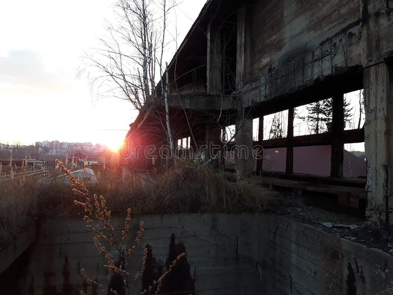 le dernier soleil images libres de droits