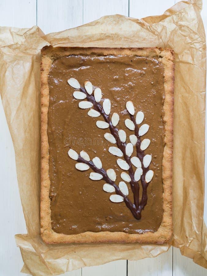 Le dessert polonais traditionnel de Pâques a appelé le mazurek avec le kajmak images libres de droits