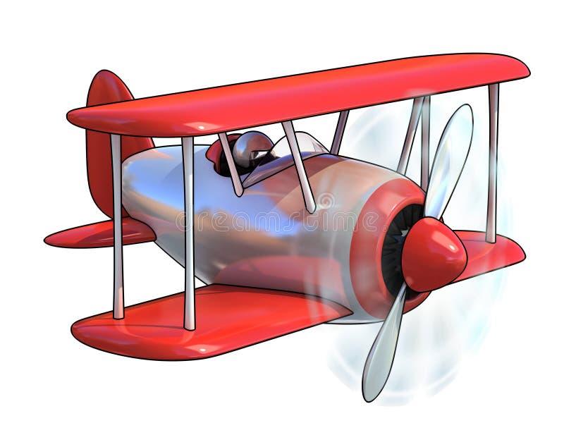 Le dessin animé aiment l'avion illustration libre de droits