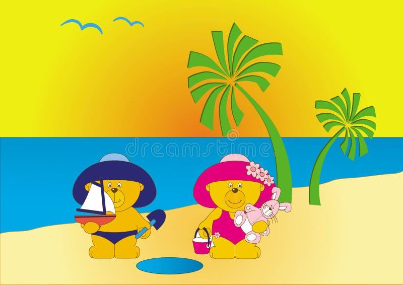 Le dessin animé concerne la plage illustration libre de droits