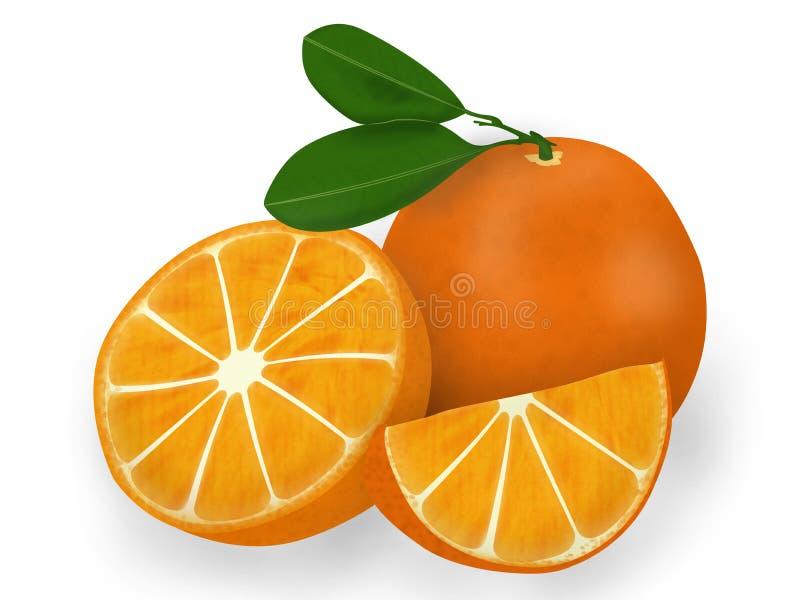 le dessin animé 3d objecte l'orange au-dessus du blanc de photo image stock