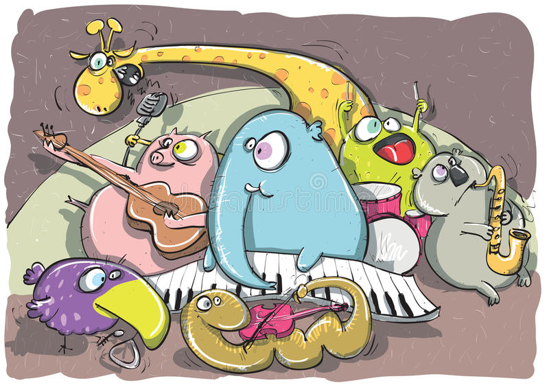 La bande animale illustration de vecteur