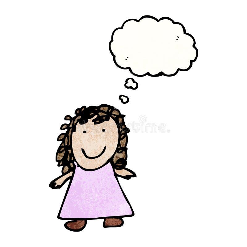 le dessin de l 39 enfant d 39 une petite fille illustration de vecteur illustration du mignon. Black Bedroom Furniture Sets. Home Design Ideas