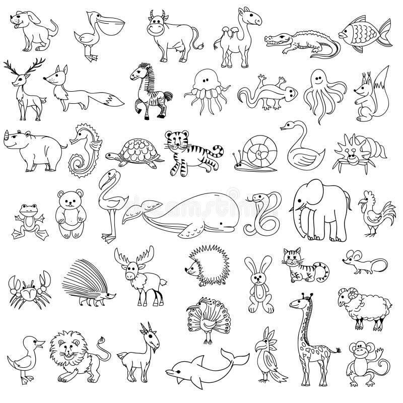download le dessin des enfants danimaux de griffonnage illustration de vecteur illustration du - Dessin D Animaux