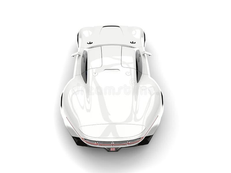 Le dessus automobile de sports superbes modernes blancs clairs soutiennent vers le bas la vue illustration libre de droits