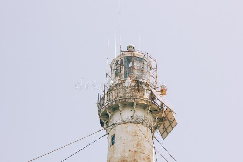 Le dessus du phare photographie stock libre de droits