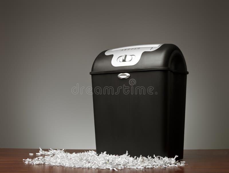 Le destructeur de papier photo stock