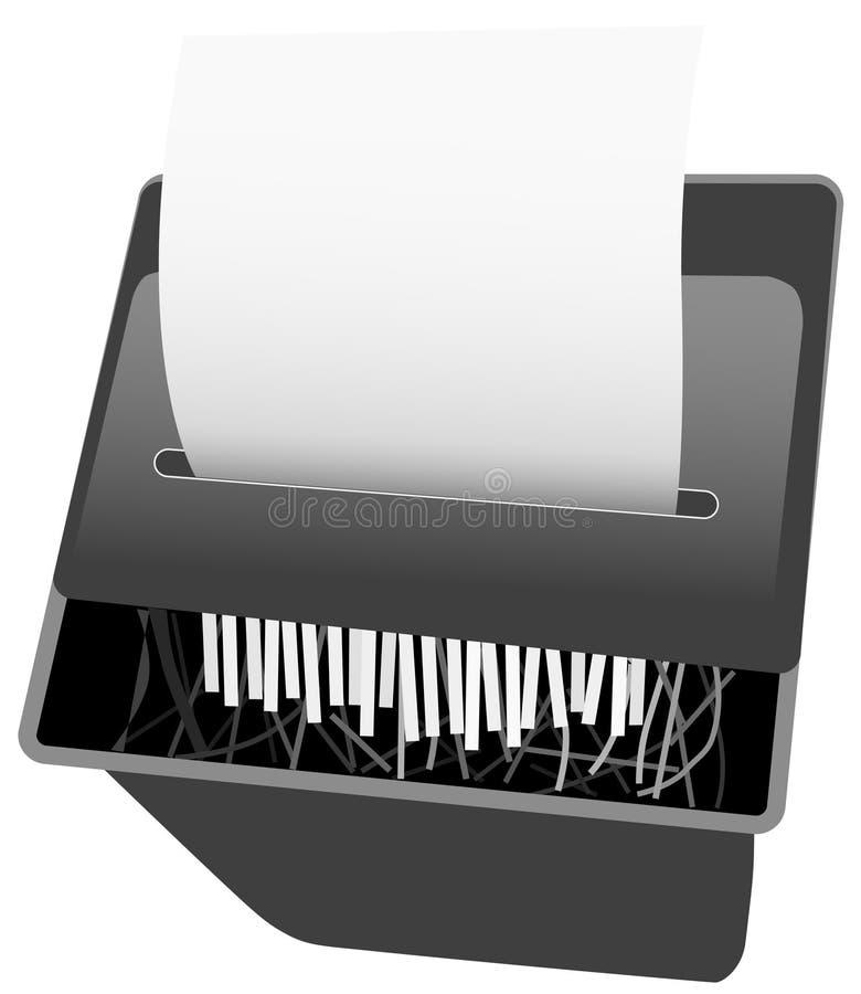 Le destructeur de papier de garantie illustration stock