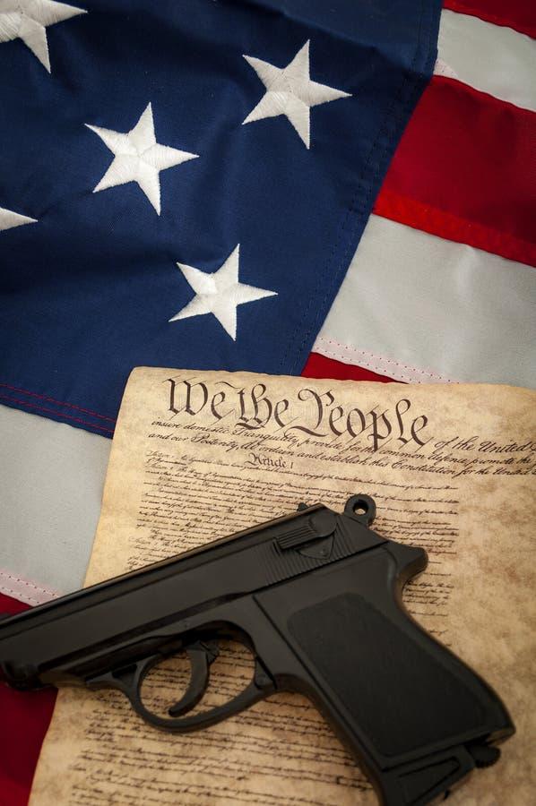 Le deuxième amendement image stock