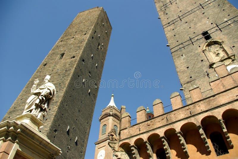 Le Devido Torri, Bolonha, Italy. fotografia de stock