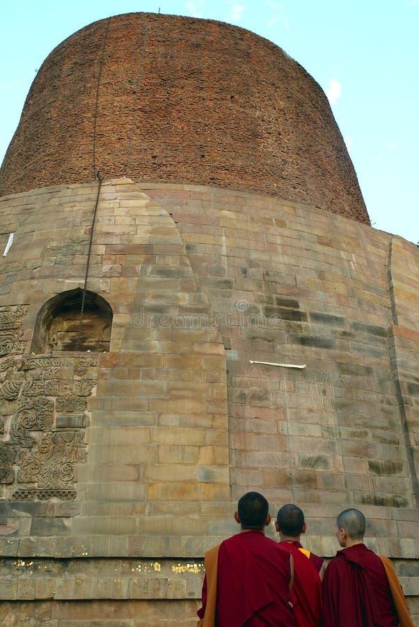 Le Dhamekh Stupa, Sarnath photos libres de droits