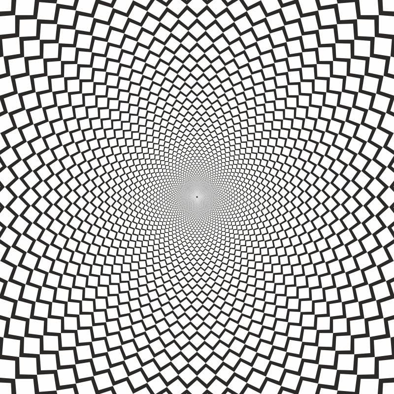 Le dièse d'illusion optique de vecteur raye le fond noir et blanc illustration de vecteur