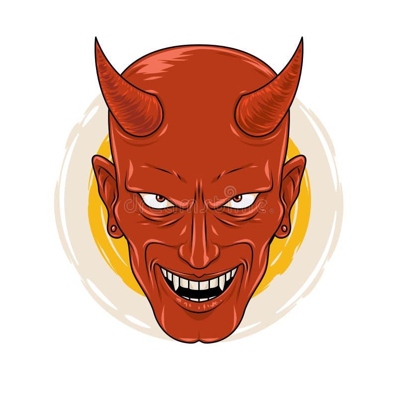 Le diable de sourire cruel illustration libre de droits