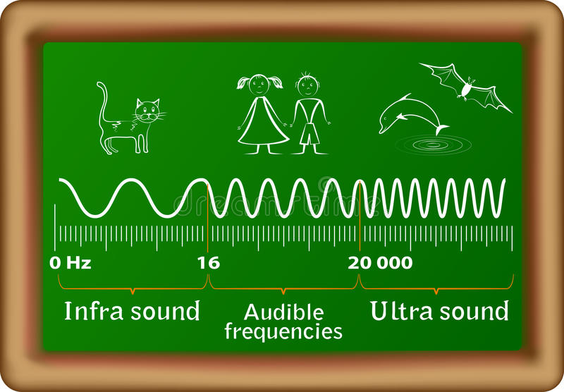 Le diagramme de vecteur d'ondes sonores illustration stock