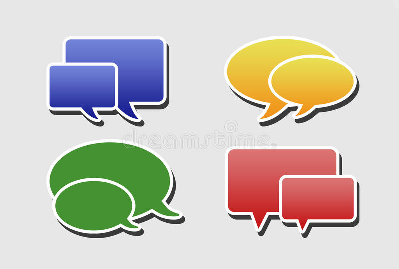 Communication illustration stock