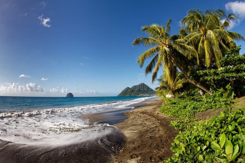 Le Diamant - Martinica FWI imagen de archivo libre de regalías