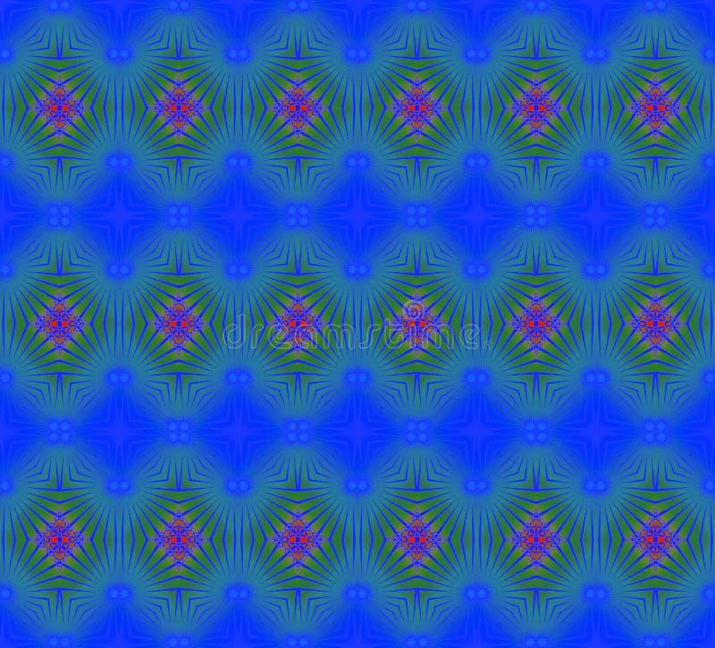 Le diamant régulier sans couture pattren le rouge de vert bleu illustration stock