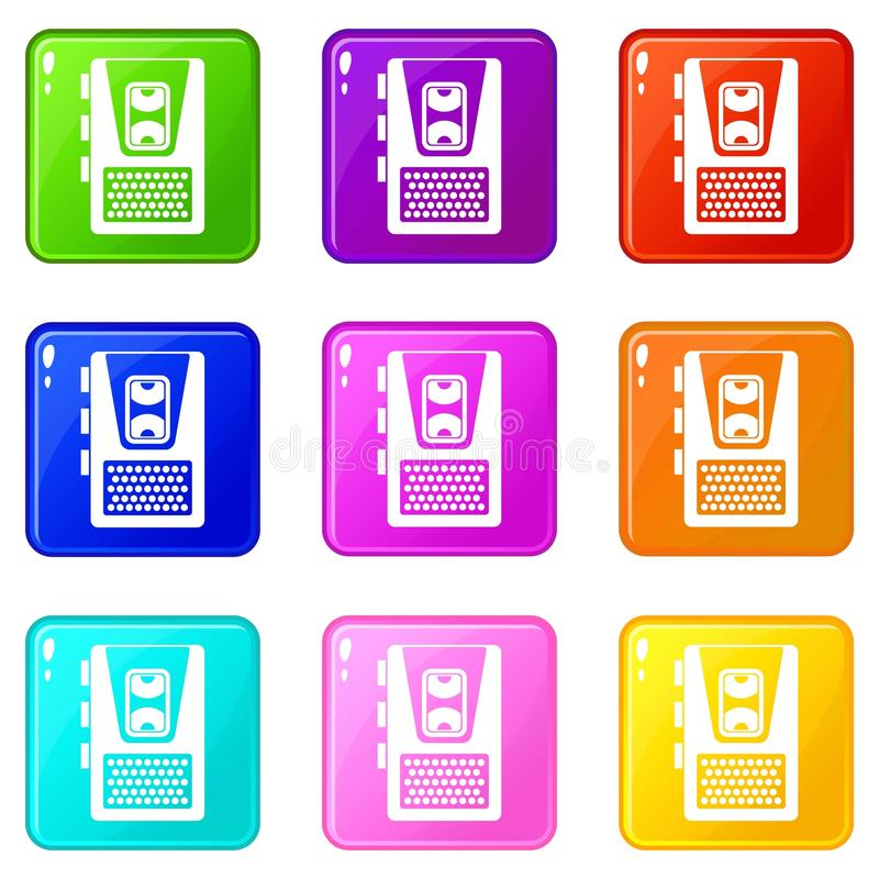 Le dictaphone a placé 9 illustration libre de droits