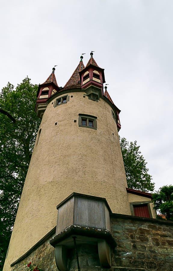 Le Diebsturm dans Lindau sur le Lac de Constance image libre de droits