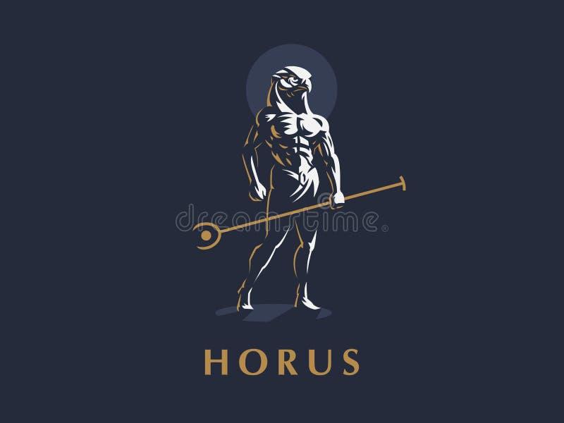 Le dieu égyptien Horus Illustration de vecteur illustration stock