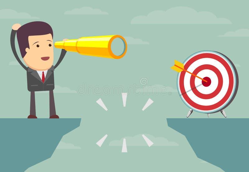 Le difficoltà sulla strada a successo illustrazione di stock