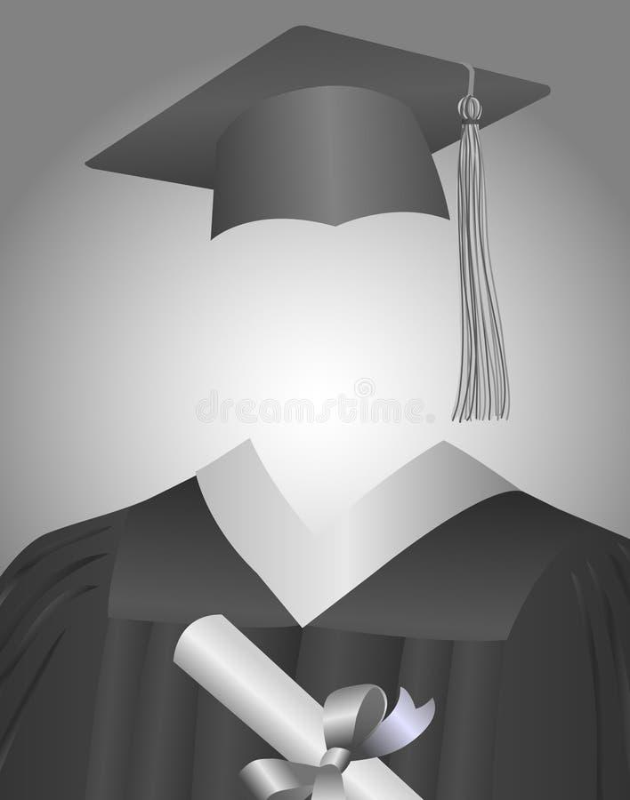 Le diplômé illustration stock
