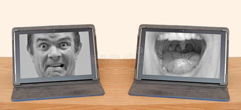 Le discours fâché insulte l'abus en ligne d'Internet photo stock