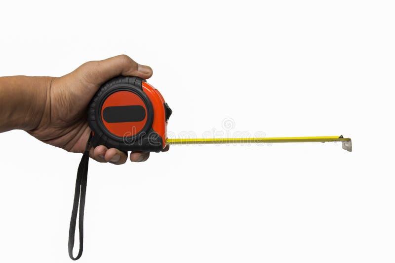 le dispositif a destiné la bande de mesure de mesure de longueur photographie stock